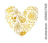 flower heart shape pattern.... | Shutterstock .eps vector #1050017435