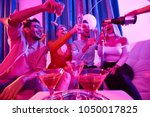 low angle portrait of group of...   Shutterstock . vector #1050017825