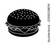 burger sandwich illustration ... | Shutterstock .eps vector #1050018854