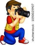 cute photographer cartoon... | Shutterstock .eps vector #1050025907