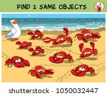 find two the same crabs in the... | Shutterstock .eps vector #1050032447