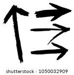 grunge dirt arrow vector. dry... | Shutterstock .eps vector #1050032909