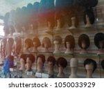 blurry image wig in beauty...   Shutterstock . vector #1050033929