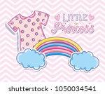 little princess cute card | Shutterstock .eps vector #1050034541