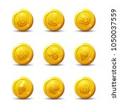 crypto currency icons isolated... | Shutterstock .eps vector #1050037559