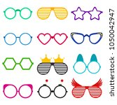 vector party sunglasses or... | Shutterstock .eps vector #1050042947