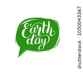 earth day hand lettering in... | Shutterstock .eps vector #1050043367