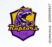 logo  badge  sticker  dinosaur... | Shutterstock .eps vector #1050049817