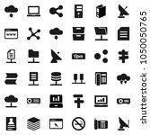 flat vector icon set   notebook ... | Shutterstock .eps vector #1050050765