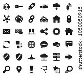 flat vector icon set   social... | Shutterstock .eps vector #1050050915