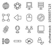flat vector icon set   globe... | Shutterstock .eps vector #1050057125