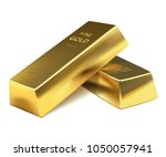 illustration two gold bars on a ... | Shutterstock . vector #1050057941