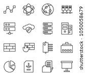 flat vector icon set   graph... | Shutterstock .eps vector #1050058679