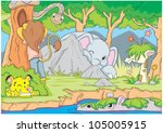 creative hide and seek game by... | Shutterstock . vector #105005915