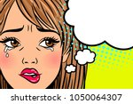 cartoon crying woman. annoyed ... | Shutterstock .eps vector #1050064307