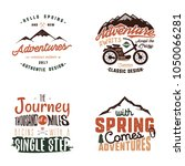 vintage adventure tee shirts...   Shutterstock .eps vector #1050066281