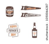 fathers day badges  labels... | Shutterstock .eps vector #1050066287