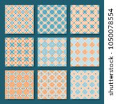 seamless pattern geometric set | Shutterstock .eps vector #1050078554