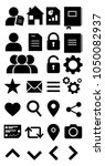 vector illustration of icons...