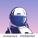 astronaut.  the first cosmonaut.... | Shutterstock .eps vector #1050083969