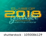graduation label. vector text... | Shutterstock .eps vector #1050086129