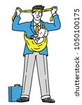 businessman prepare himself... | Shutterstock .eps vector #1050100175