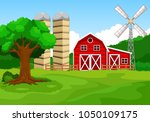 illustration of farm background  | Shutterstock . vector #1050109175