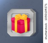 game icon of present box with... | Shutterstock .eps vector #1050109271