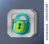 game icon of padlock in cartoon ... | Shutterstock .eps vector #1050109289