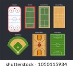 sport fields and courts  top... | Shutterstock .eps vector #1050115934