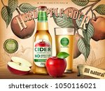 hard apple cider ads ... | Shutterstock .eps vector #1050116021