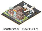 isometric air logistics concept ... | Shutterstock .eps vector #1050119171