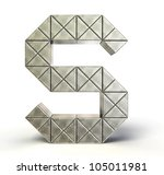 steel letter isolated on a... | Shutterstock . vector #105011981