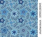 vector floral seamless pattern. ... | Shutterstock .eps vector #1050128345