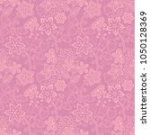 floral seamless texture with a... | Shutterstock .eps vector #1050128369