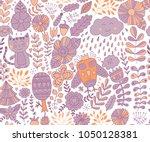 vector forest design  floral... | Shutterstock .eps vector #1050128381