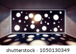 concrete room and circle holes... | Shutterstock . vector #1050130349