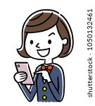 female student  smartphone | Shutterstock .eps vector #1050132461