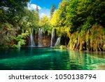 plitvice lakes  croatia.... | Shutterstock . vector #1050138794