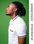 studio shot of young handsome... | Shutterstock . vector #1050140045