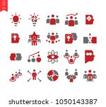 vector set of 20 quality icons... | Shutterstock .eps vector #1050143387