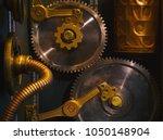 closeup ancient vintage wall... | Shutterstock . vector #1050148904