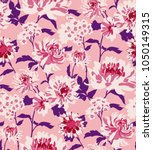 seamless floral pattern in... | Shutterstock .eps vector #1050149315