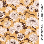 seamless floral pattern in... | Shutterstock .eps vector #1050149324