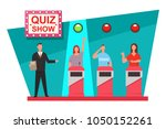 quiz game tv show concept... | Shutterstock .eps vector #1050152261