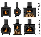 Iron Wood Burning Stove With...