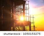 silhouette of building... | Shutterstock . vector #1050153275