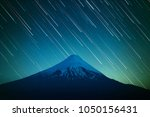volcano of osorno and night sky ... | Shutterstock . vector #1050156431