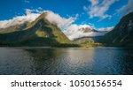 spectacular mountain range... | Shutterstock . vector #1050156554