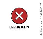error vector icon.can be used...
